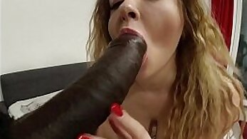 Busty blonde hairy girlaunting life-sized cock in small pussy