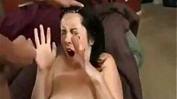 Compilation extreme facials. Sensual brunette scene