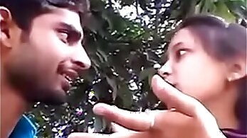 Couples kissing and loving outdoor