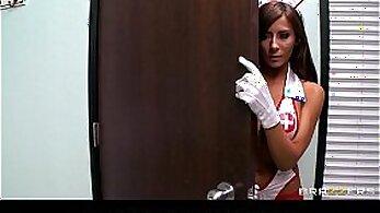 Busty Nurse Cooper fucks amazing guy