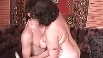 Chubby old granny Millie teases her man
