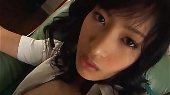 Charming Japanese babe is sucking famous guys dick