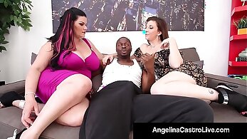 Asstraffic first Black haired Latina blow tasty penis of her kinky fellow
