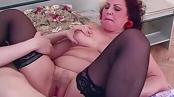 Big tits mature in white stockings and riding brainsengorgasmoon