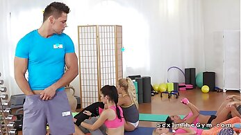Fitness Boy Rimming Foursome