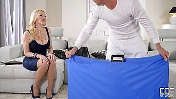 Busty Blonde Playing With Toys - Third World Media
