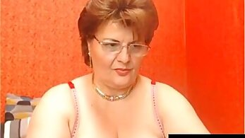 Mature granny gets fucked on private live webcam at pool