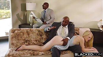 Black girlfriend strapon punishment