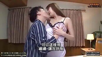 Horny mom Midori Bano takes advantage of her son
