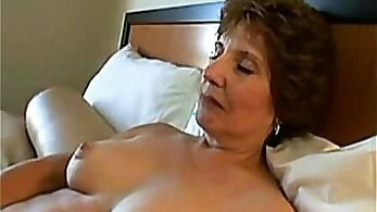 Relentless hot Granny with her tits squirting fun