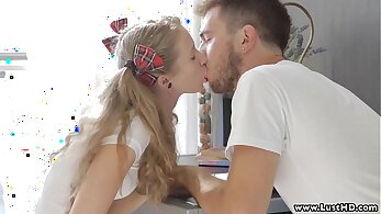 Blonde Russian Teen Sara D Hitchhikes And Cums On Her Boyfriend