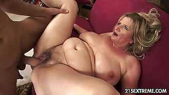Blonde Granny Fucks And Takes A Load