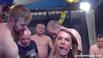 Bannet boys cumming on Christina