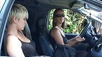 Blond Seduced by Two Strangers