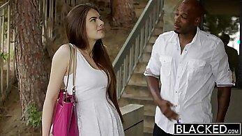 Beautiful gf interracial fucking with young man