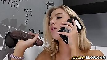 Cheating With Black Cocks For To Be Fucked At Glory Hole