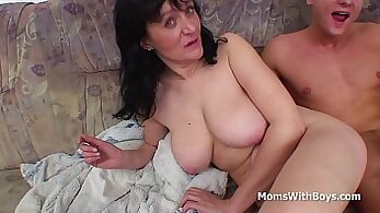 Big Tit Mommy takes on the Tauntiful Cock