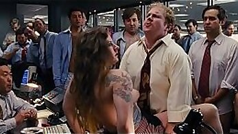 BBW tearing up at the office and gangbanged