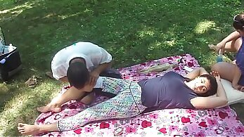 Chinese girl workout and massage with dildo